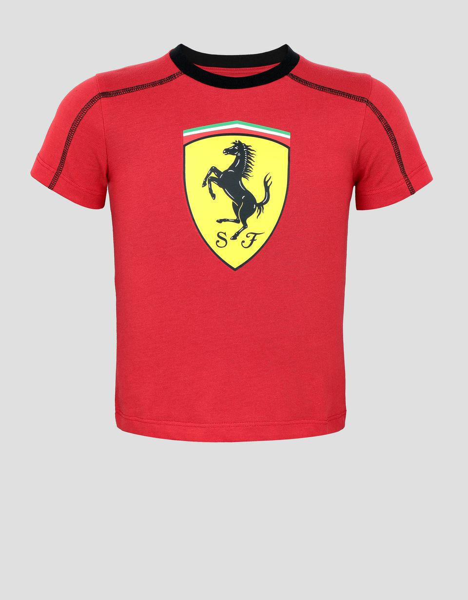 Scuderia Ferrari Online Store - Children's cotton T-shirt with Shield -