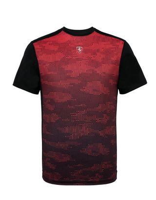 Scuderia Ferrari Online Store - Men's T-shirt with camouflage print - Short Sleeve T-Shirts