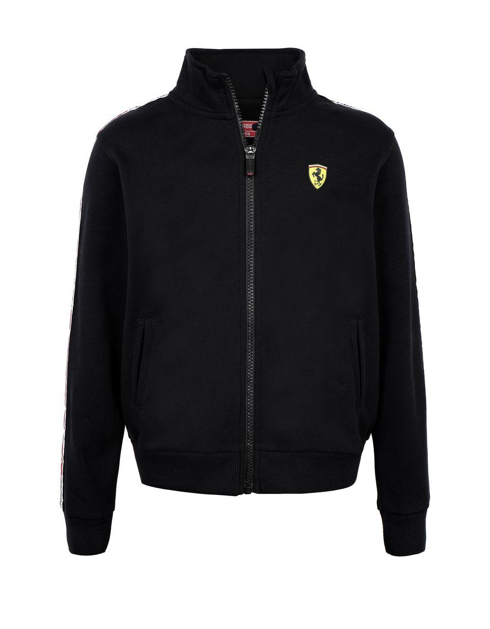 Scuderia Ferrari Online Store - Sweat-shirt junior en coton avec <i>Icon Tape</i> - Zip Jumper