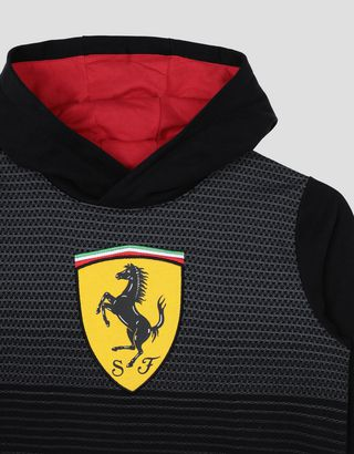 Scuderia Ferrari Online Store - Boys' sweatshirt with Shield - Hooded Jumpers