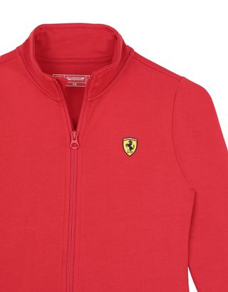 Scuderia Ferrari Online Store - Girls' full zip cotton jumper - H-Zip Jumpers