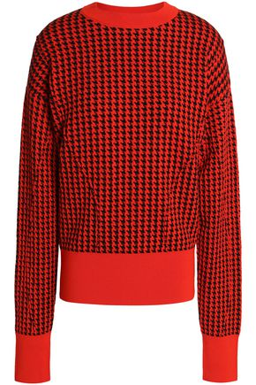MARNI Houndstooth jacquard wool-blend sweater