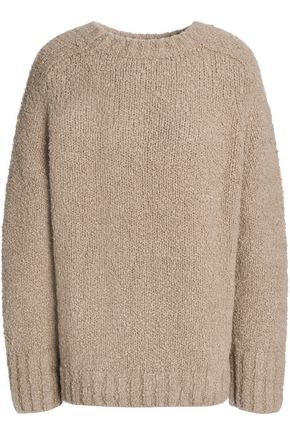 VINCE. Bouclé-knit wool sweater