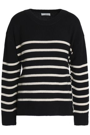 VINCE. Tie-back striped cashmere sweater