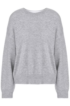 VINCE. Brushed cashmere and cotton-blend sweater