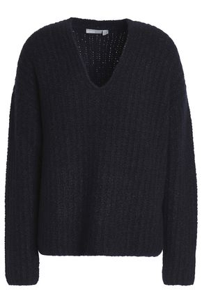 VINCE. Ribbed cashmere-blend bouclé sweater