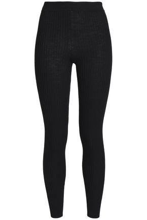 VINCE. Ribbed wool-blend leggings