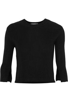 HALSTON HERITAGE Cutout silk and cashmere-blend sweater