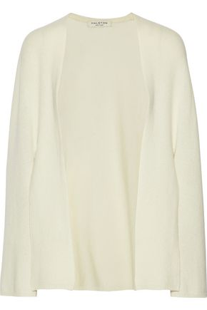 HALSTON HERITAGE Wool and cashmere-blend cardigan