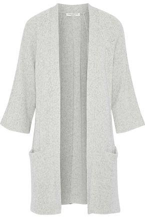 HALSTON HERITAGE Mélange cotton and cashmere-blend cardigan