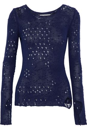 MAISON MARGIELA Distressed open-knit silk sweater