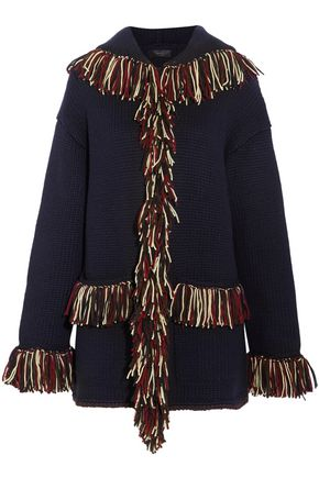 ALANUI Fringed cashmere hooded cardigan