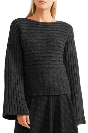 ROSETTA GETTY Ribbed alpaca-blend sweater