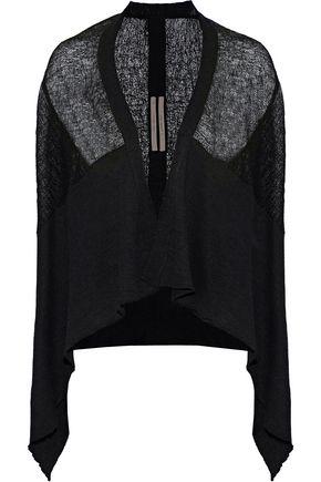 RICK OWENS Draped knitted linen-blend vest