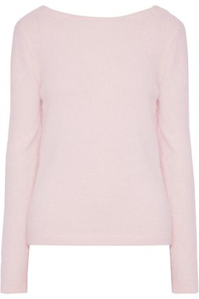 BRANDON MAXWELL Draped brushed angora-blend sweater