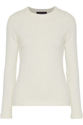 BRANDON MAXWELL Brushed angora-blend sweater