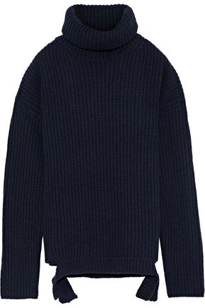 IRIS & INK Cherry ribbed wool turtleneck sweater