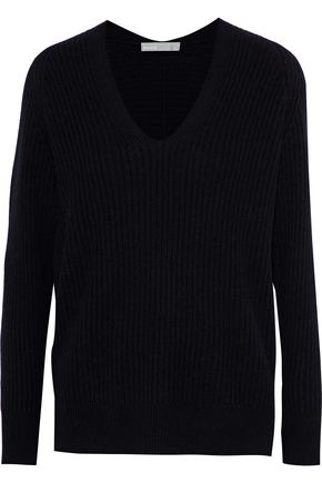 VINCE. Ribbed wool and cashmere-blend sweater