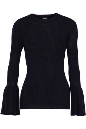 IRIS & INK Fluted ribbed wool sweater