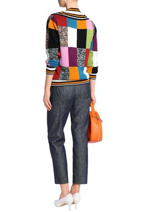 HOUSE OF HOLLAND Intarsia merino wool-blend sweater