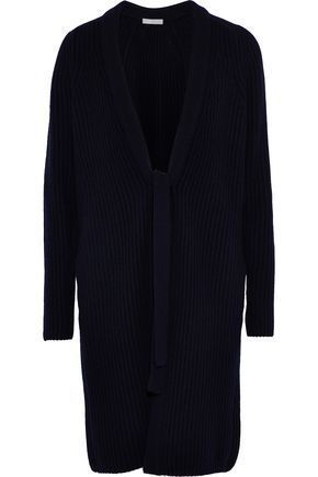 VINCE. Cable-knit wool and cashmere-blend cardigan
