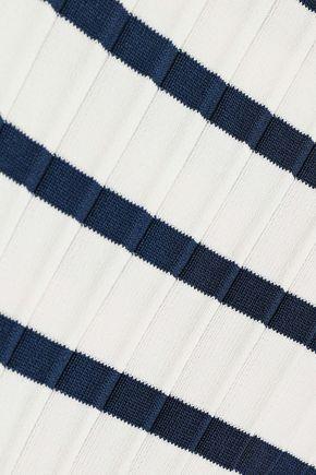 JASON WU Striped ribbed-knit sweater