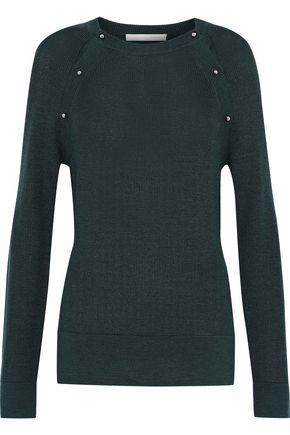 JASON WU Button-detailed wool and silk-blend sweater