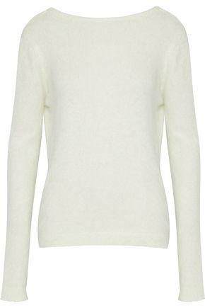 BRANDON MAXWELL Draped brushed angora-blend sweater