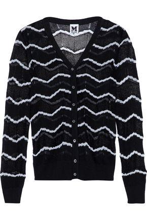 M MISSONI Metallic knitted cotton-blend cardigan