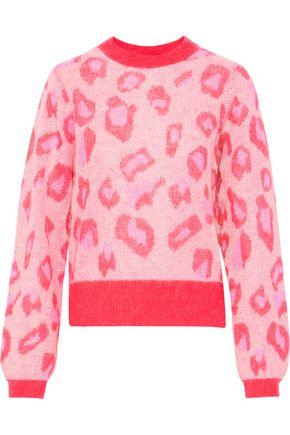 BAUM UND PFERDGARTEN Leopard-print open-knit sweater