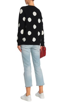 CHINTI AND PARKER Polka-dot wool and cashmere-blend sweater
