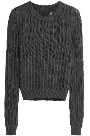 RICK OWENS Open-knit cotton sweater