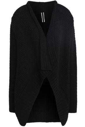 RICK OWENS Asymmetric striped wool cardigan