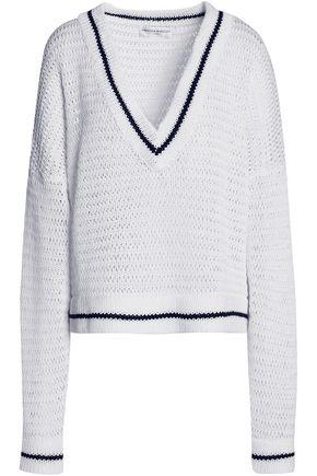 AMANDA WAKELEY Scale open-knit cotton sweater