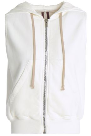 RICK OWENS Cotton hooded vest