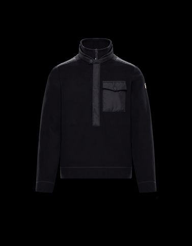 MONCLER ZIPPED MOCK POLO NECK - High necks - men