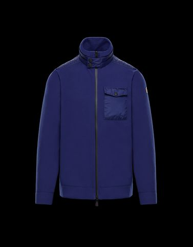 MONCLER ZIPPED MOCK POLO NECK - Cardigans - men