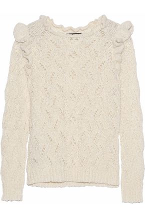 ANTIK BATIK Melody pointelle-knit alpaca-blend sweater