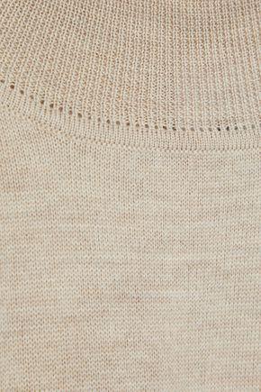 IRIS & INK Mary Beth mélange wool turtleneck sweater