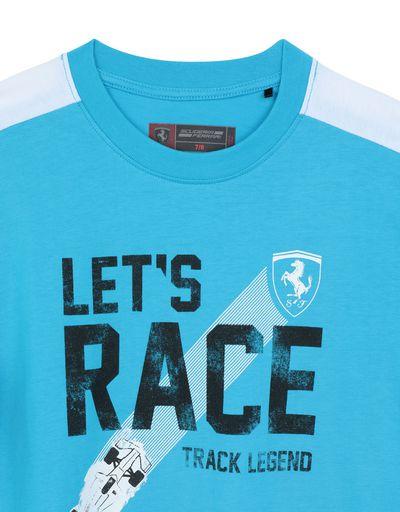Scuderia Ferrari Online Store - Children's T-shirt with ʺLet's raceʺ slogan - Long Sleeve T-Shirts