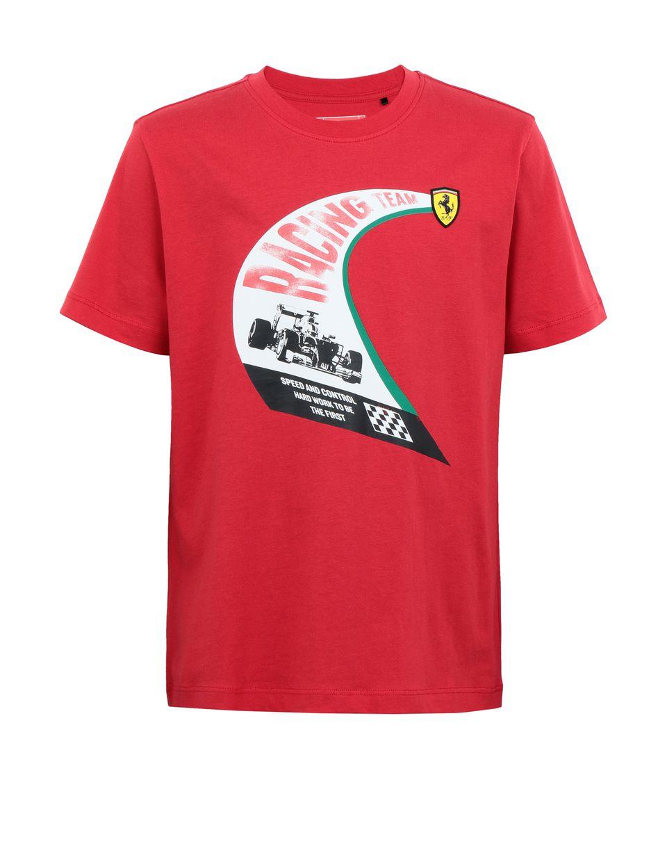 Scuderia Ferrari Online Store - Boys' cotton T-shirt with vintage print -