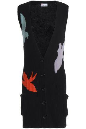 REDValentino Ribbed intarsia-knit cardigan