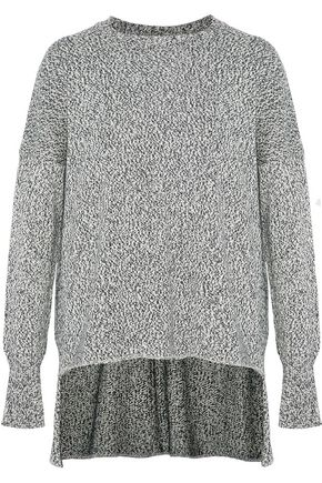 ADAM LIPPES Marled cotton, cashmere and silk-blend sweater