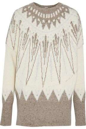 ADAM LIPPES Merino wool and cashmere-blend jacquard sweater