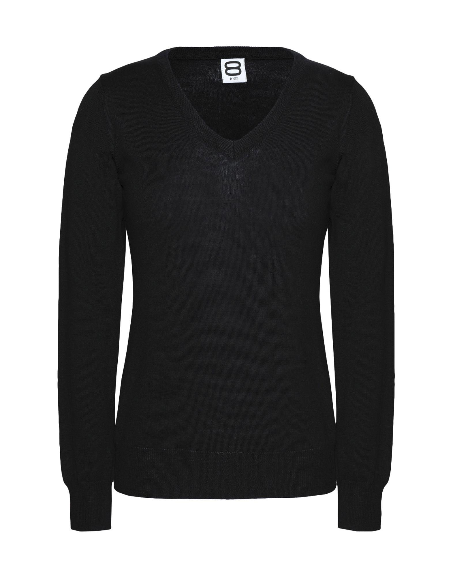 8 by YOOX Свитер пуловер большого размера с v образным вырезом из тонкого трикотажа