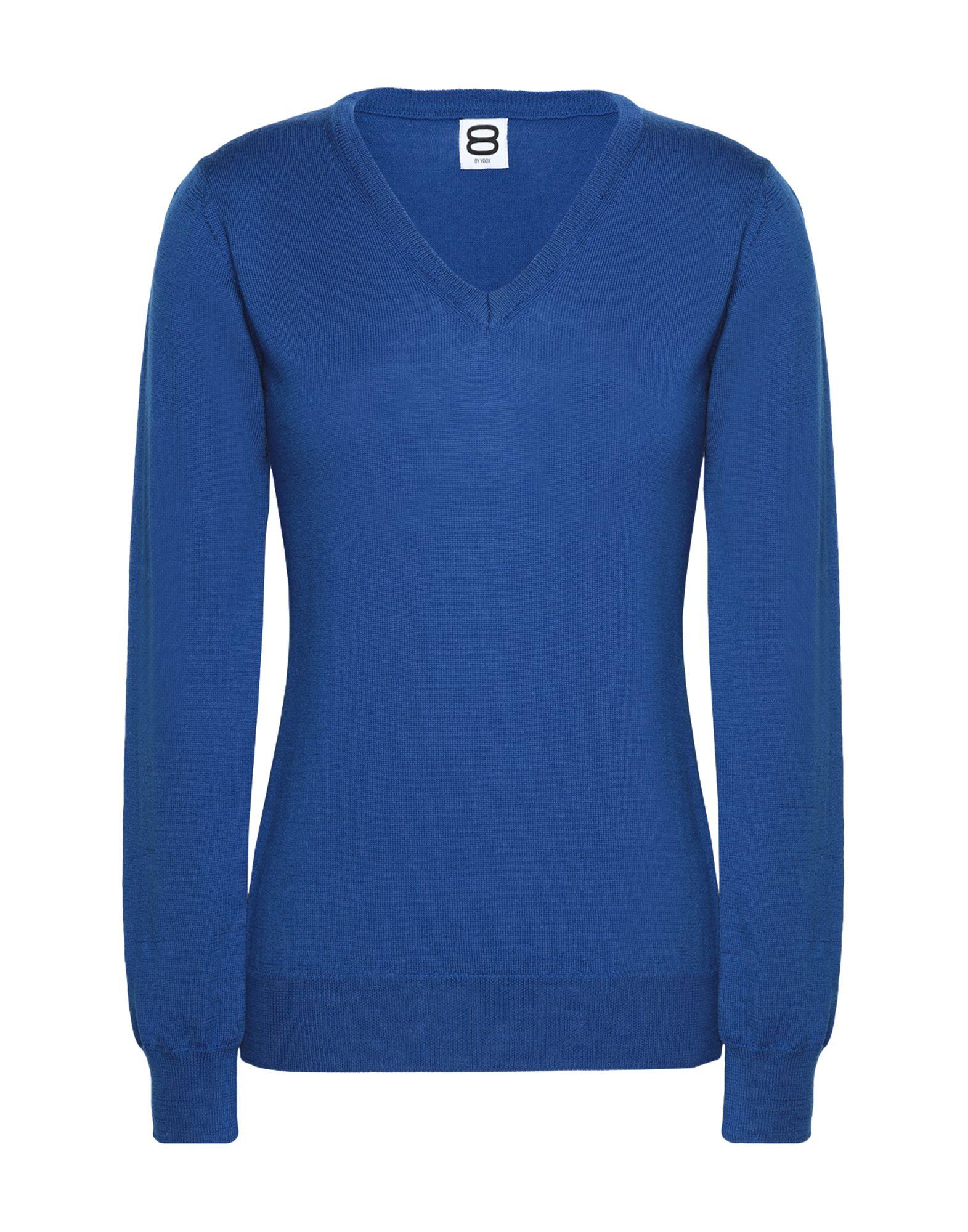 8 by YOOX Свитер пуловер без рукавов с v образным вырезом из трикотажа в рубчик