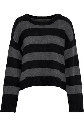 RTA Striped ribbed cashmere sweater