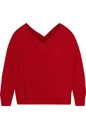 IRIS & INK Meena off-the-shoulder cashmere sweater