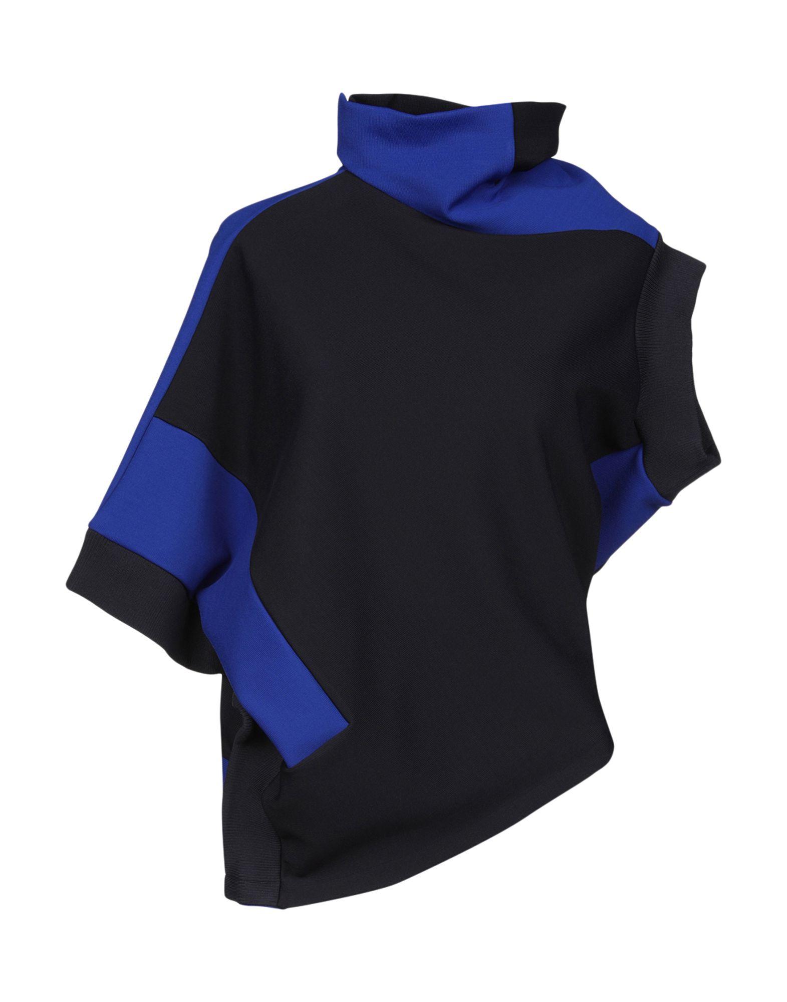 MAISON MARGIELA Sweatshirts. Jersey No appliqués Two-tone Turtleneck Short sleeves No pockets Stretch. 60% Viscose, 31% Polyamide, 9% Elastane