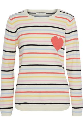 CHINTI AND PARKER Striped intarsia cashmere sweater